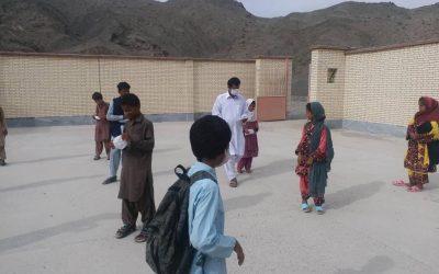 ارسال ماسک جهت استفاده دانش آموزان مدارس مناطق محروم.